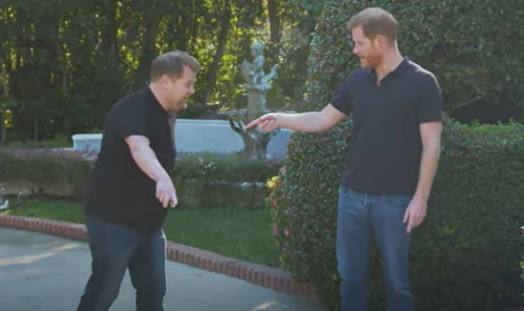 james corden prince harry