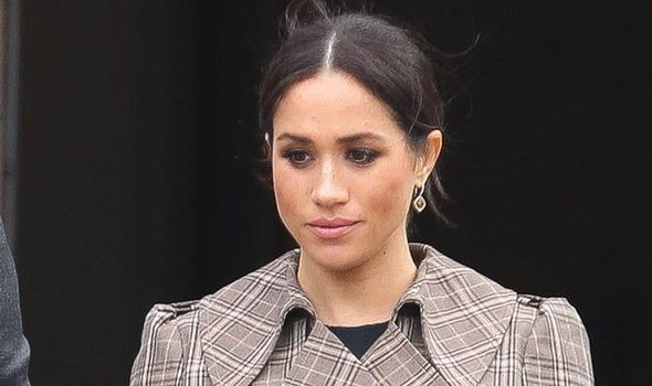 meghan markle during the interview with oprah