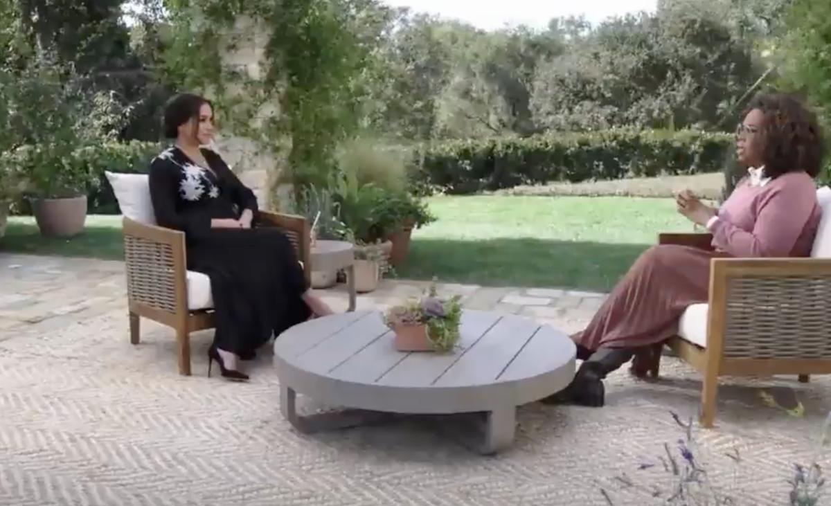 meghan markle speaking to oprah