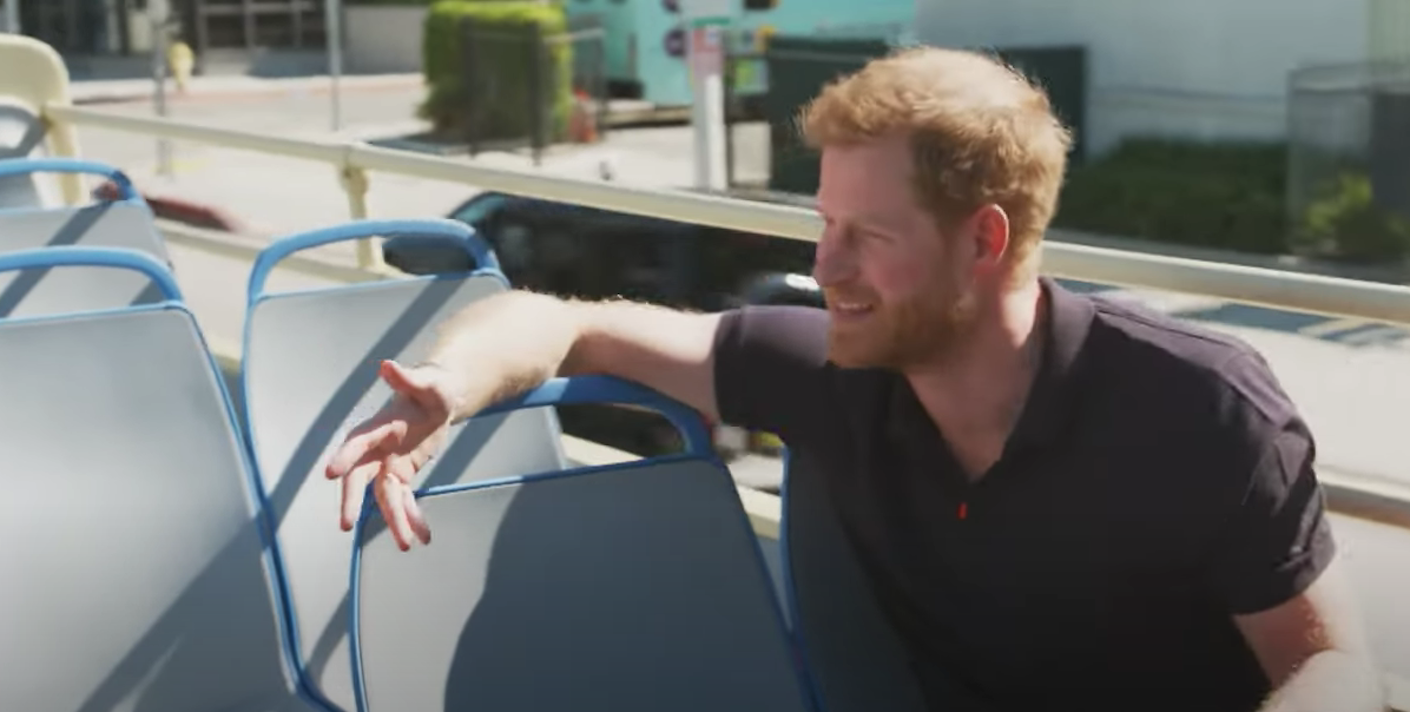 prince harry appearing on james corden's show