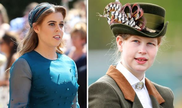 Princess Beatrice and Lady Louise Windsor