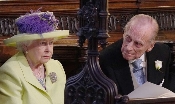 The Queen and Philip together at Harry and Meghan's wedding