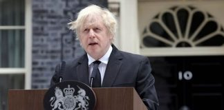Boris Johnson has led the country in paying respects