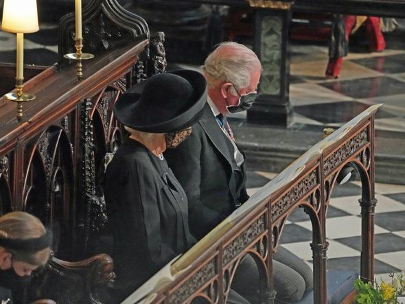 Charles and Camilla were among members of the Royal Family who attended Philip's funeral