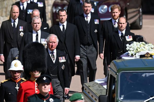 Harry and William walked behind Prince Philip's coffin