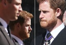Harry and  at Prince Philip funeral