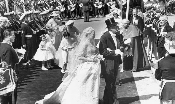 John Kelly: Grace being walked down the aisle by her father, John, a successful sportsman