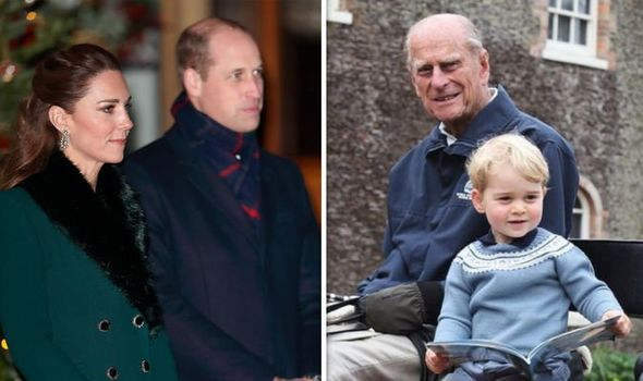 Kate Middleton, Prince William, Prince Philip and Prince George