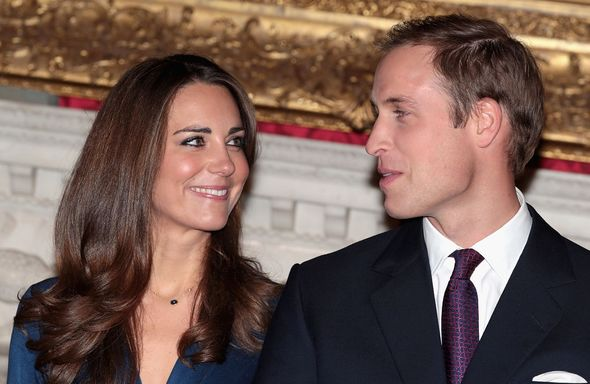 Kate and William look at each other