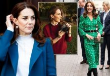 Kate Middleton wearing Sezane