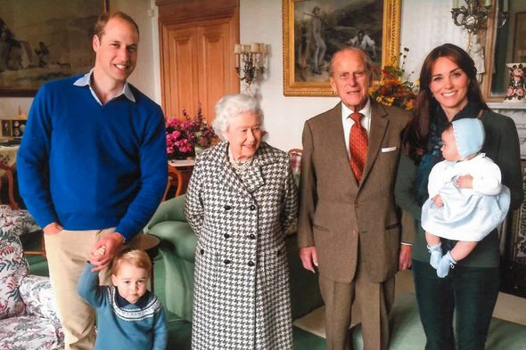 Kate and William shared a poignant snap of the Queen and Philip with their grandchildren