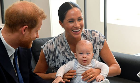 Meghan and Harry with Archie in October 2019 in South Africa