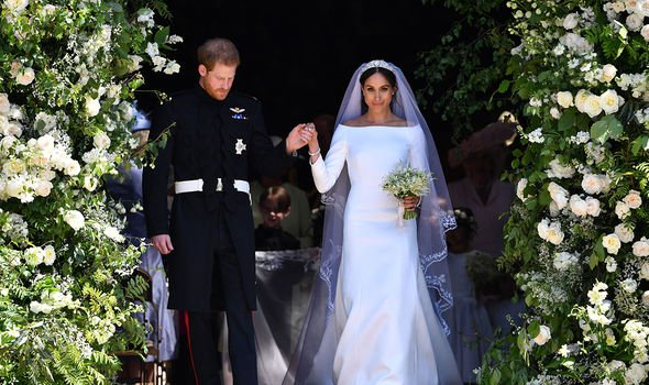 Meghan and Harry's wedding in May 2018