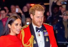 Prince Harry, Duke of Sussex and Meghan, Duchess of Sussex attend the Mountbatten Festival of Music at Royal Albert Hall on March 07, 2020 in London,