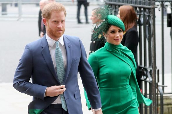 Meghan was unable to fly back with Harry as she is heavily pregnant