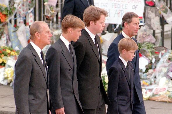 Philip supported Harry and William when Diana died