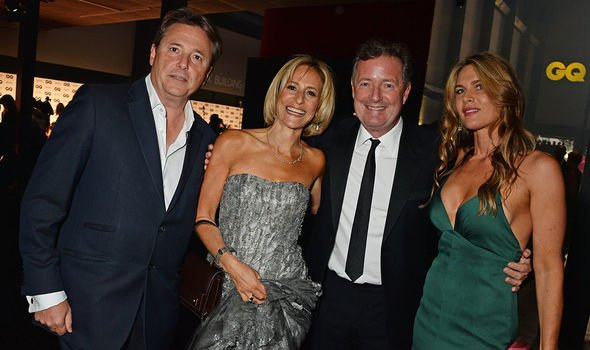 Piers Morgan and wife Celia Walden with Emily Maitlis and husband Mark Gwynne