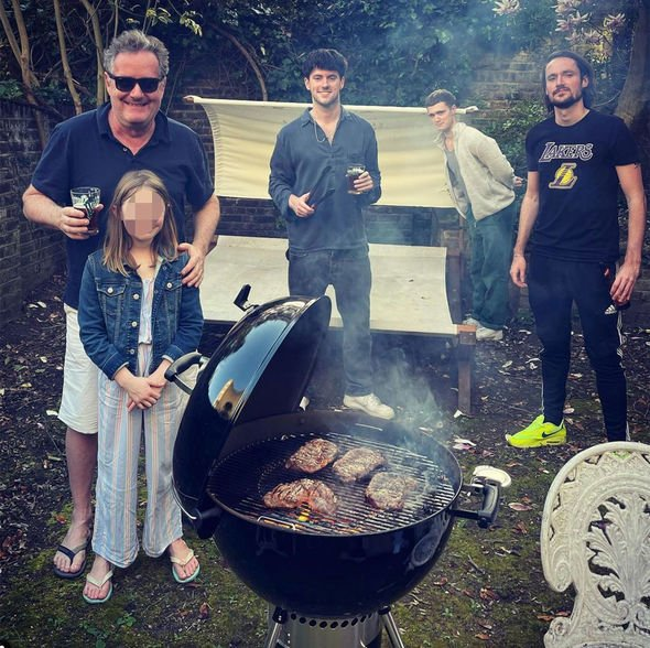 Piers Morgan has been spending time with his family during his career break