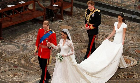Pippa Middleton with Prince Harry at Kate and William's wedding