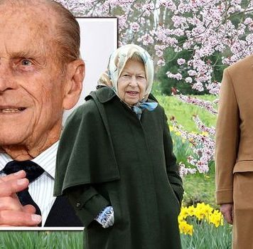 Prince Charles, Prince Philip and the Queen