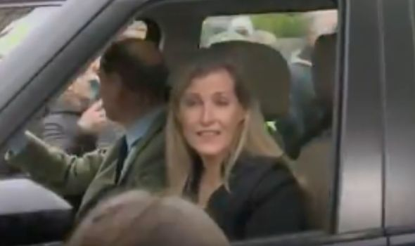 Prince Edward and the Countess of Wessex have left Windsor Castle after a meeting with the Queen