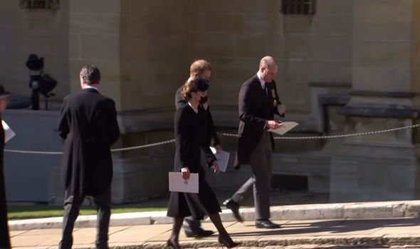 Prince Harry: Kate seen walking with Harry and William
