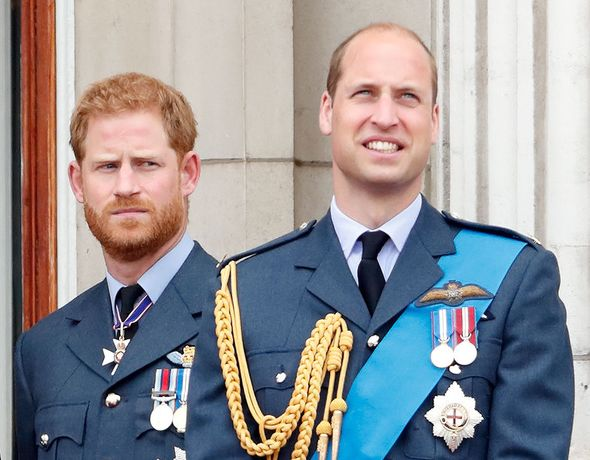 Prince Harry gives William an awkward look