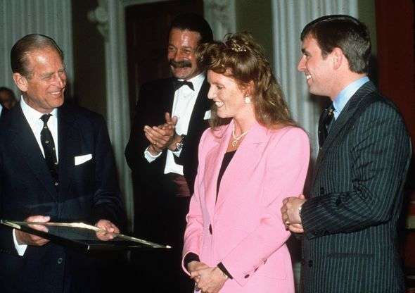 Prince Philip, Sarah Ferguson and Prince Andrew