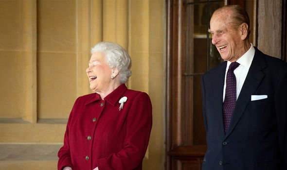 Prince Philip makes the Queen laugh