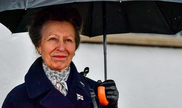 Princess Anne appeared emotional during her visit to the Isle of Wight