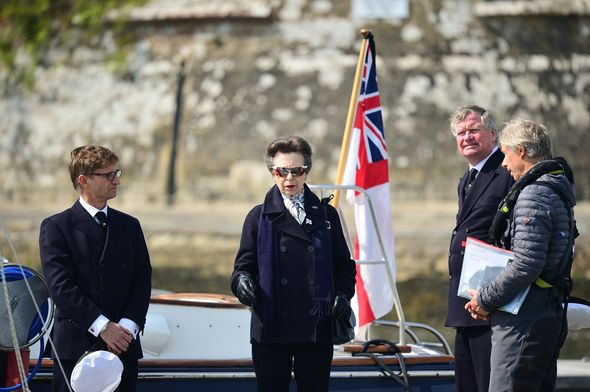 Princess Anne visited the Isle of Wight