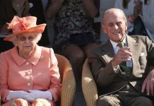 Queen Elizabeth II and The Duke of Edinburgh during the polo at the Guards Polo Club, Windsor Great Park, Egham, Surrey 24 JUNE 2018
