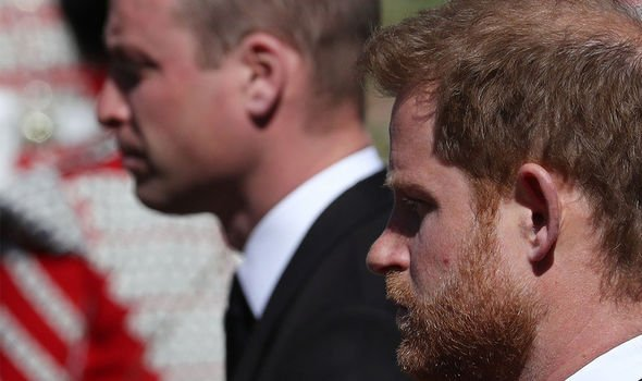 Royal Family: The brothers walked in the same row during Philip's procession
