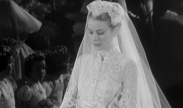 Royal wedding: Grace pictured on her wedding day in April 1956