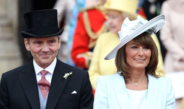 The Middletons: Carole and Michael pictured overjoyed at Kate and William's wedding