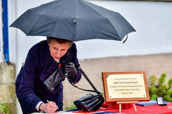 The Princess Royal was pictured smiling as she reminisced about sailing in her younger years