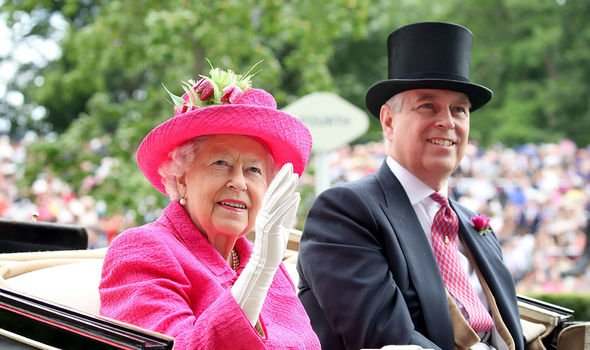 The Queen: Andrew pictured with the Queen during the Royal Ascot, 2017