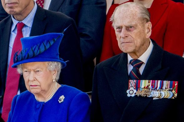 The Queen was by her husband's side as he died