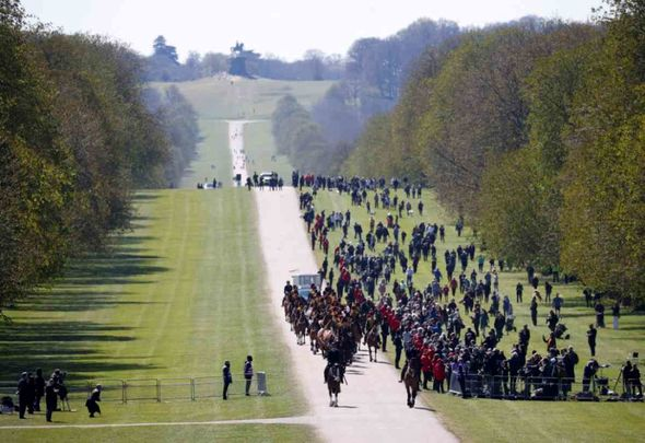 The funeral procession for Prince Philip