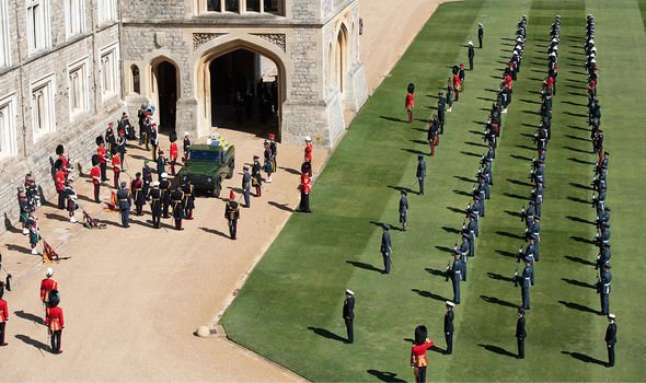 Windsor Castle: Philip's funeral was heavily military oriented