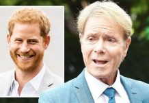 cliff richard prince harry royal family queen uk