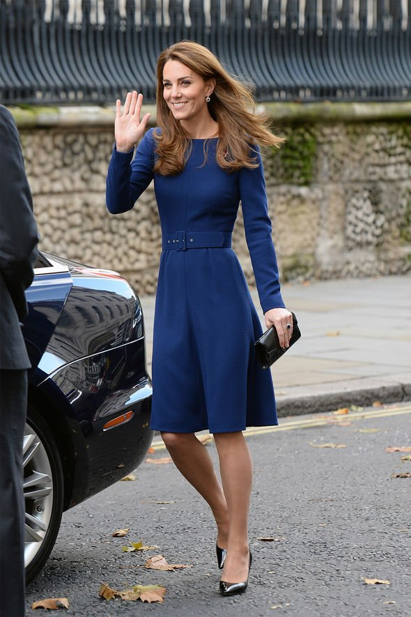 Duchess of Cambridge in blue dress