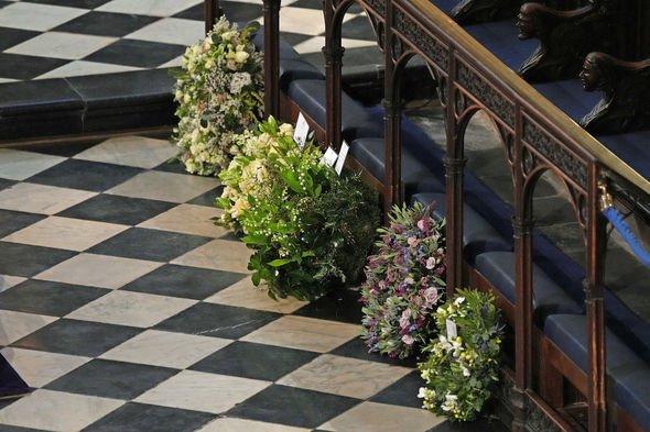 meghan markle prince harry wreath prince philip funeral flowers royal family news