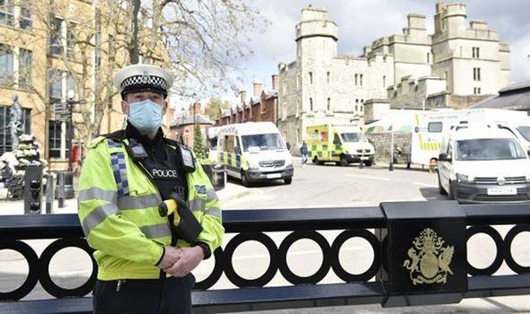 police windsor prince philip funeral