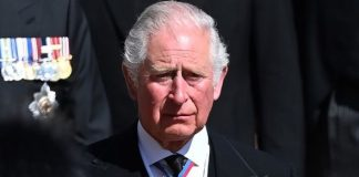 prince charles body language prince philip funeral