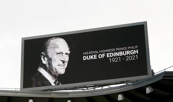 prince philip news minute silence