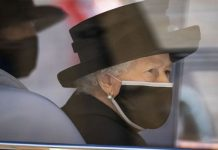 Queen Elizabeth II arriving at St George's Chapel, Windsor Castle, Berkshire, during the funeral of the Duke of Edinburgh. Picture date: Saturday April 17, 2021