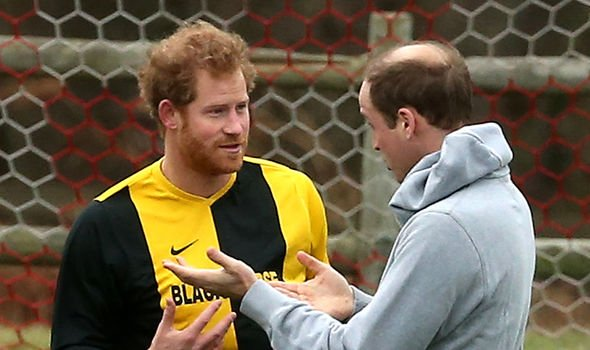 Harry and William playing a friendly round of football at Sandringham in the past
