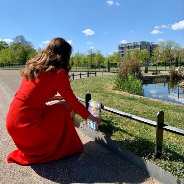 Kate Middleton left a copy at the Queen Victoria statue outside Kensington Palace Gardens(Image: KensingtonRoyal)