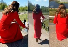 Kate Middleton in red coat